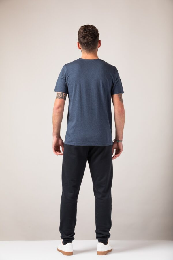 Men basic T-Shirt blue stone