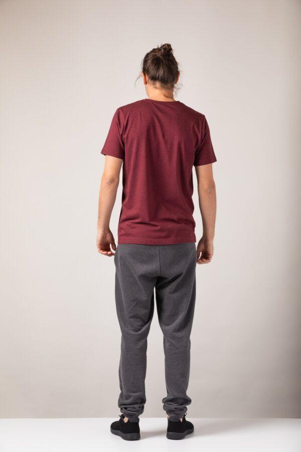 Men basic T-Shirt bordeaux