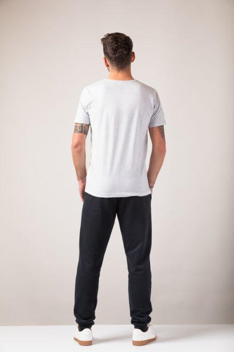 Men basic T-Shirt silver shine