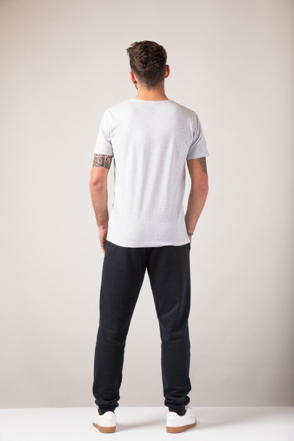 Men basic T-Shirt silver shine