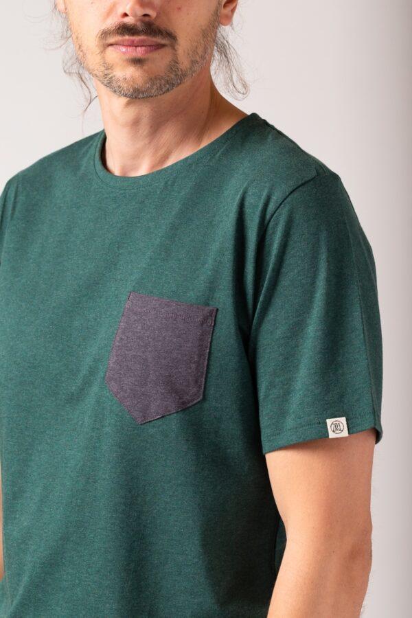 Men Pocket T-Shirt green stone