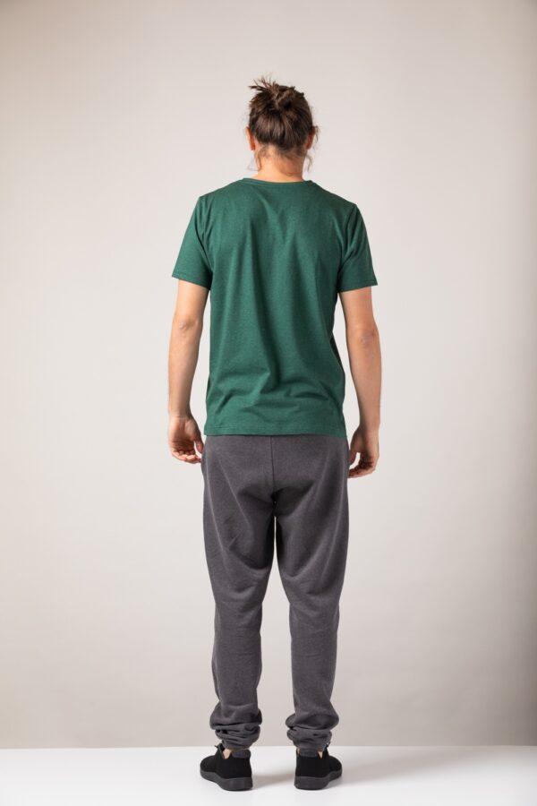 Men basic T-Shirt green stone