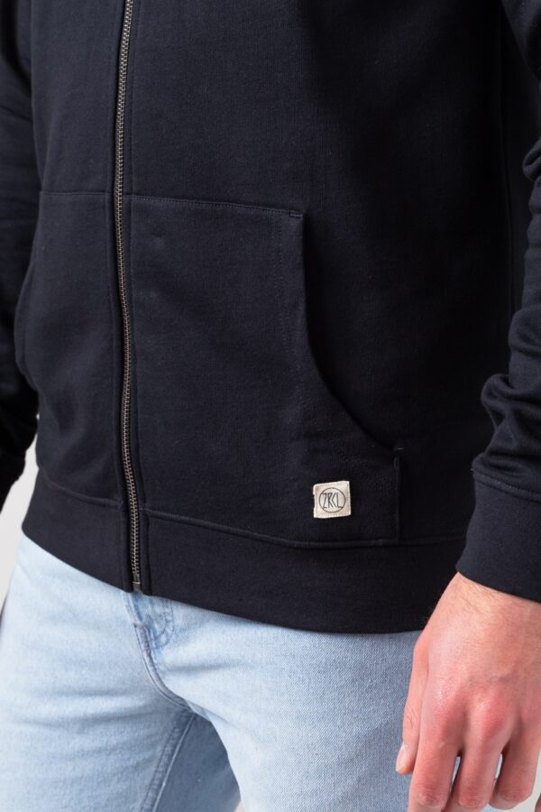 Men basic Zip Hoodie black