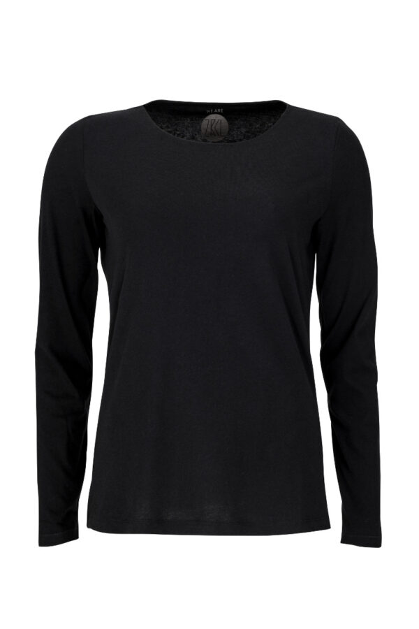 women basic longsleeve black