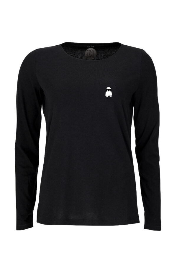 Women Longsleeve Ghost black