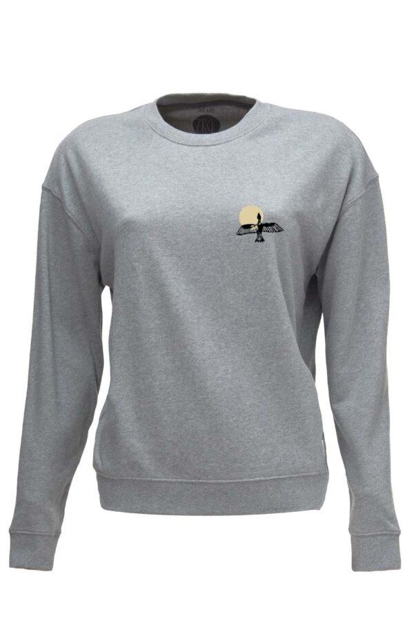 W Sweater Bird stone grey