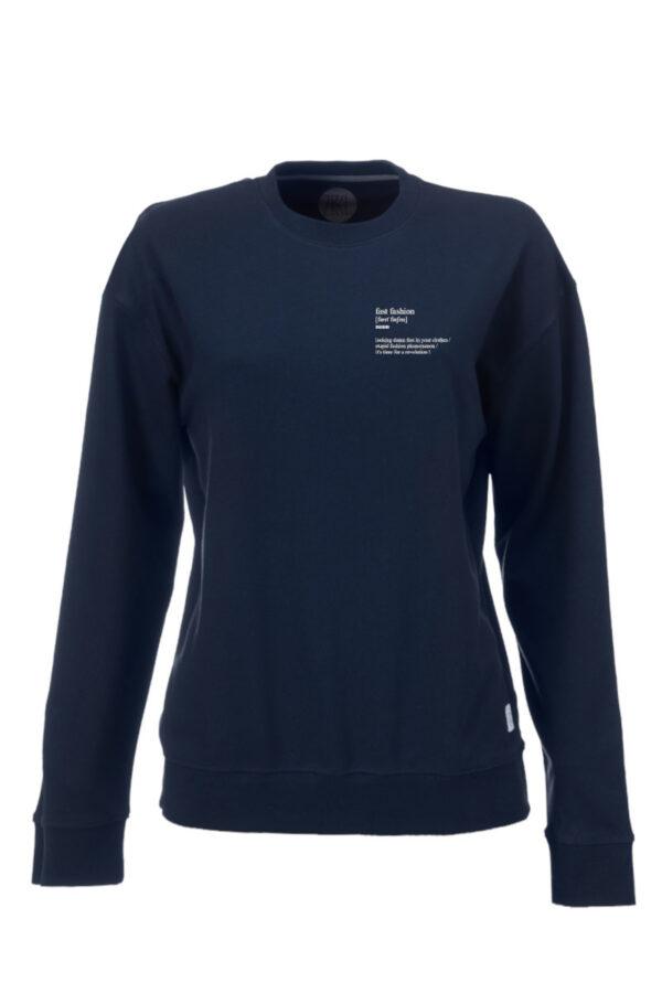 Women Fast Fashion Sweater blue