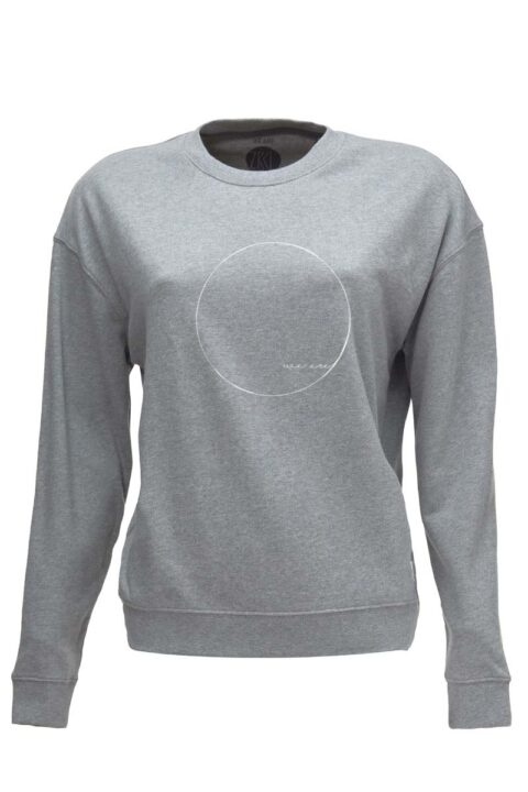 Damen Sweater WE ARE stone grey
