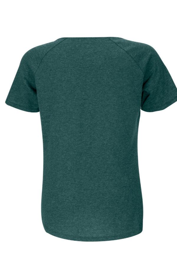 Women T-shirt green stone