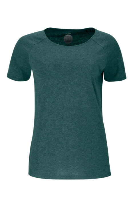 Women T-shirt basic green stone