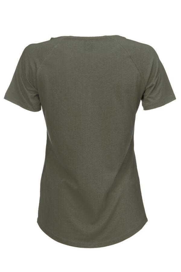 Women basic T-Shirt olive