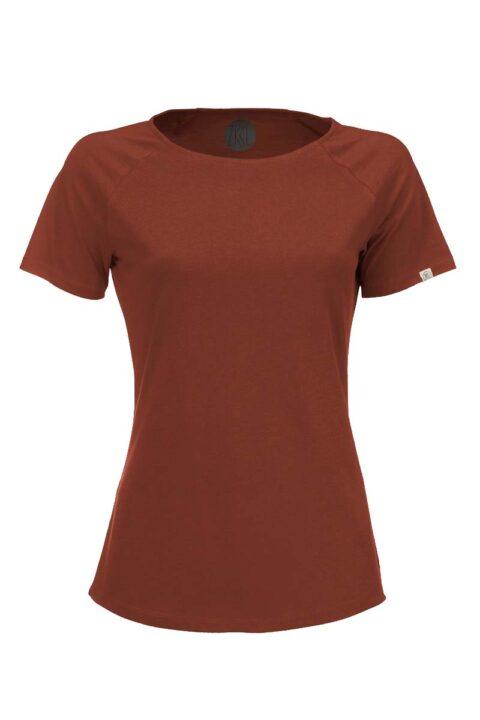 Damen T-Shirt basic rost