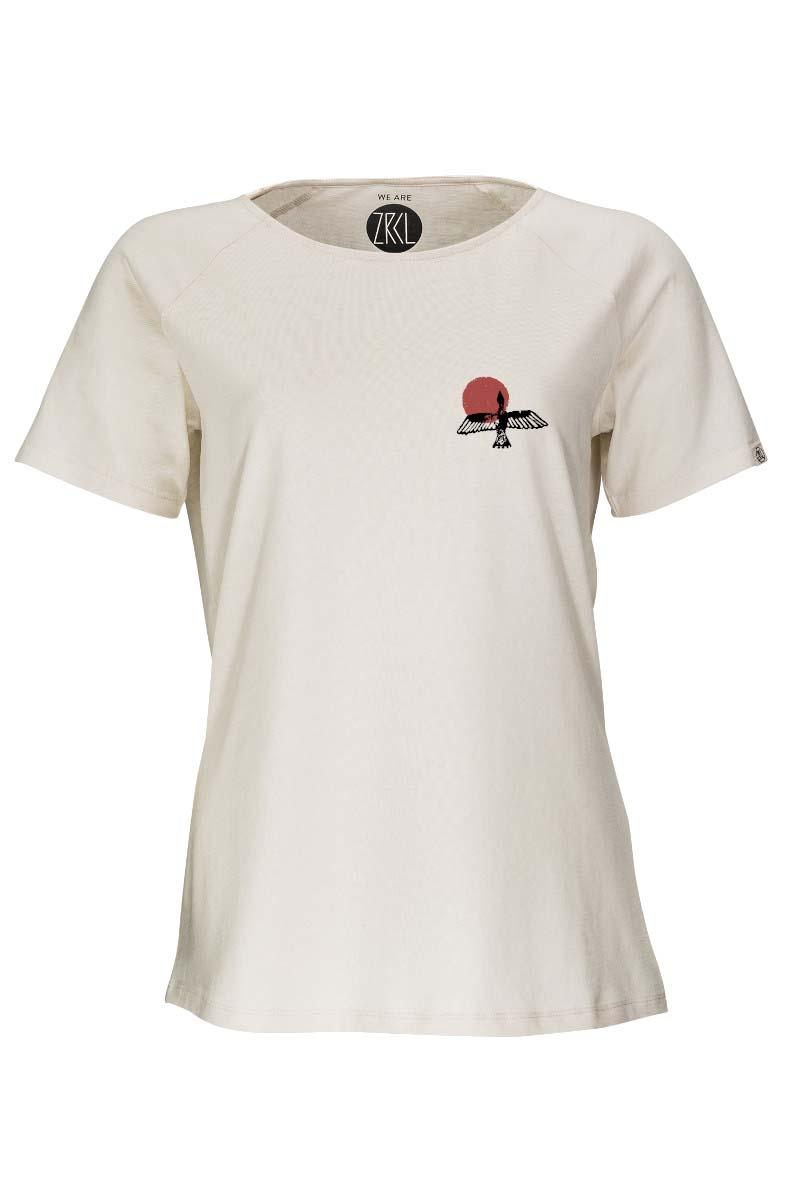 W T-Shirt Bird natural