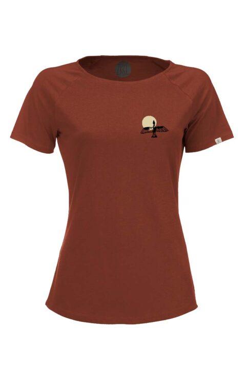 Damen T-Shirt Bird rost
