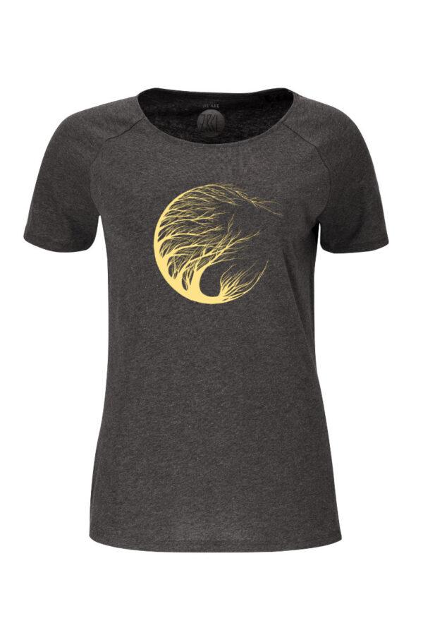 Women T-Shirt Circle Tree onyx