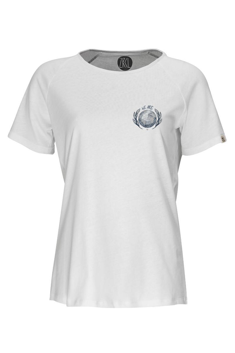Women T-Shirt Earth white by Rips1