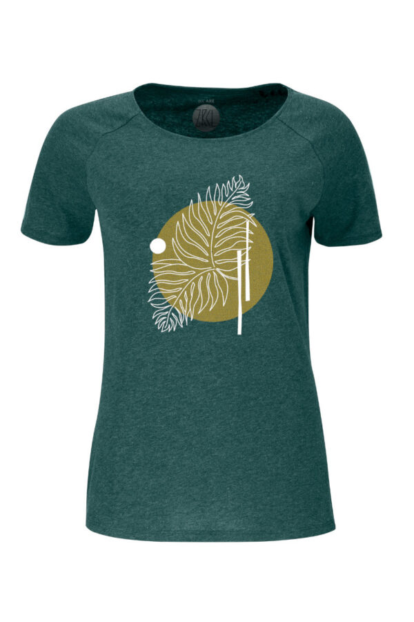 Women T-Shirt Farn green stone