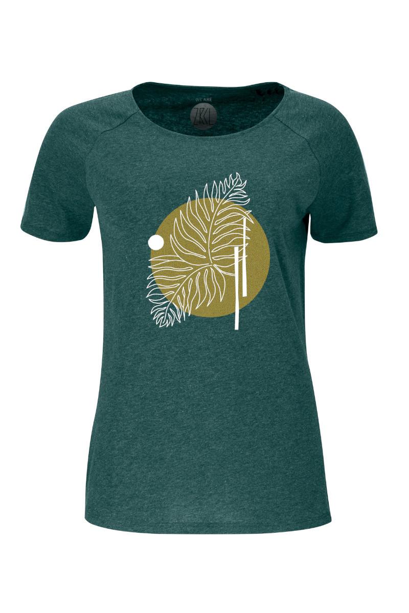 Women T-Shirt Farn green stone