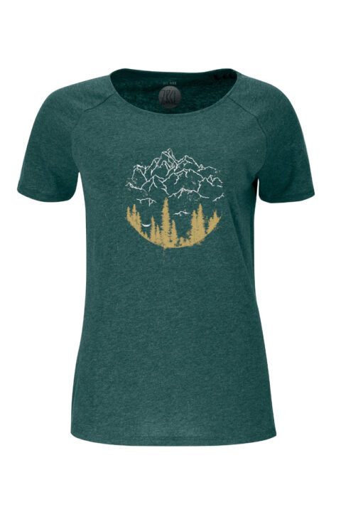 Women T-Shirt Hammock green stone