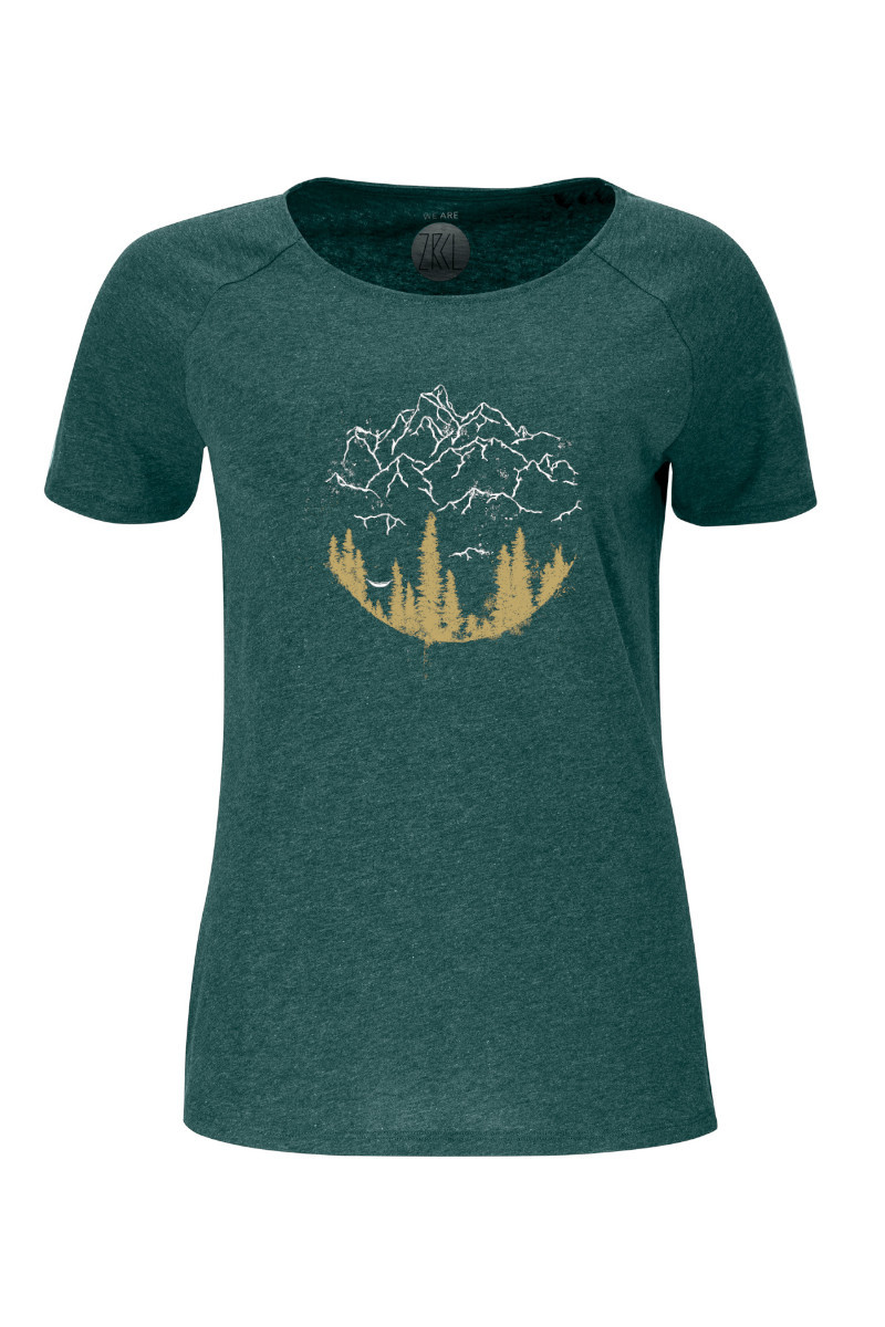Women T-Shirt Hammock green stone