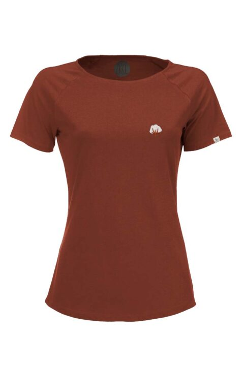 Damen T-Shirt Kitumba rost