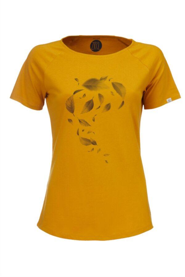 Women T-Shirt Leaves amber