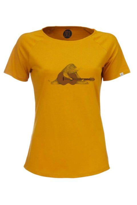 Damen T-Shirt Mole amber