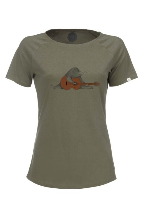 Damen T-Shirt Mole olive
