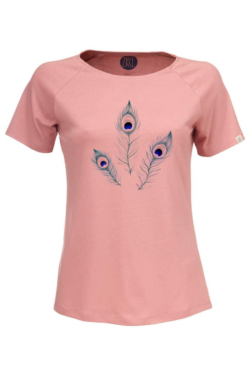 Women Peacock T-Shirt old rose