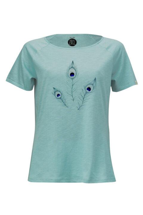 Women T-Shirt Peacock by Sarah von Rickenbach