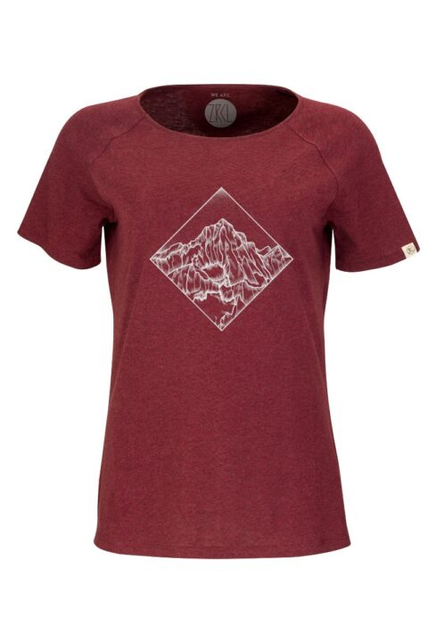 Women T-Shirt POW dark wine