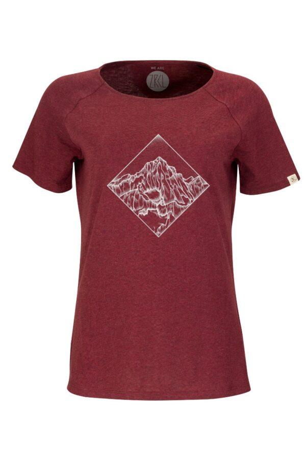 Women T-Shirt POW dark wine