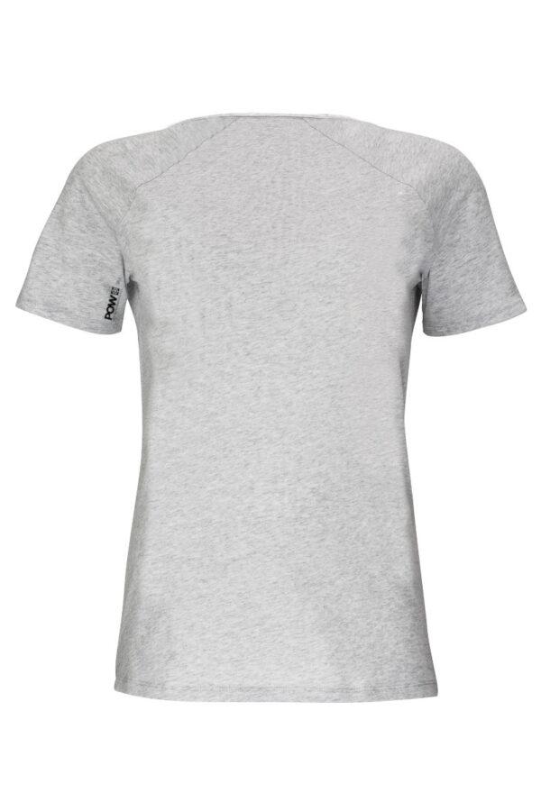 Women T-Shirt POW silver shine