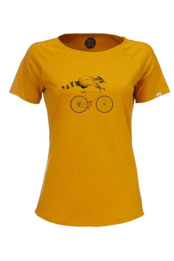 Women T-Shirt Raccoon amber