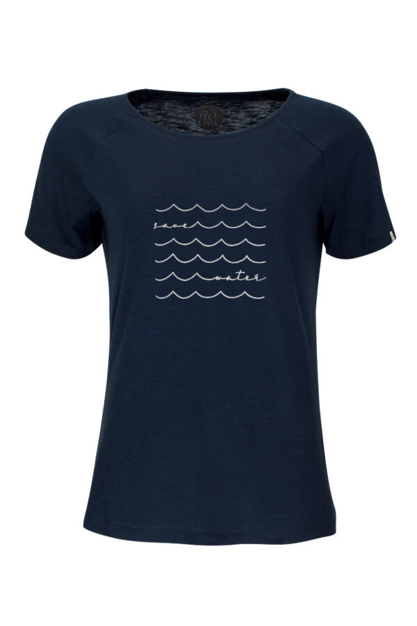 Women T-Shirt Save Water blue
