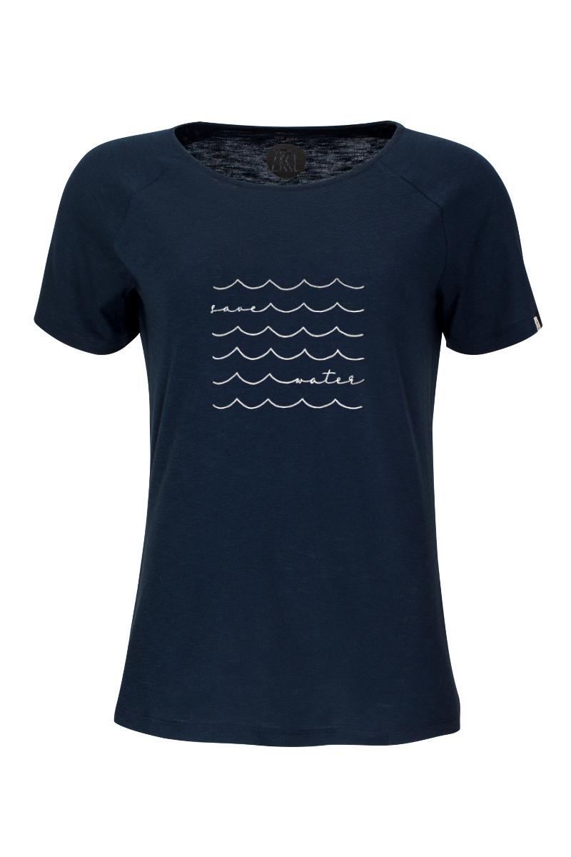 Women T-Shirt Save Water blue