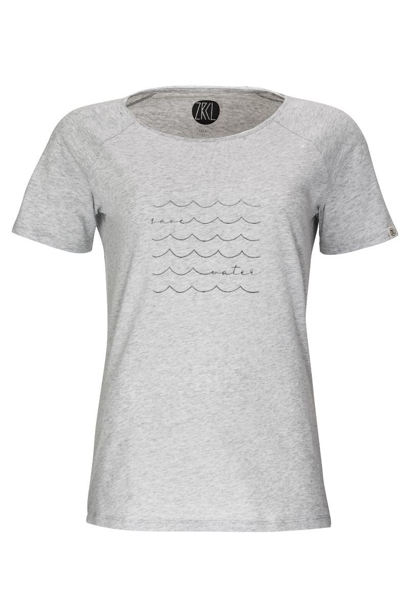 Women T-Shirt Save Water silver shine