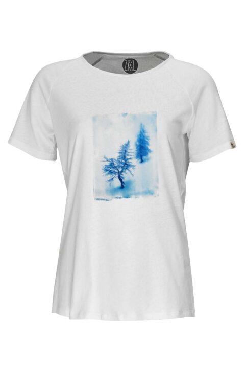 Damen T-Shirt Snowtree white