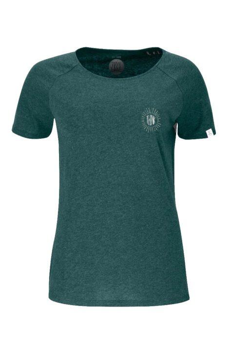 Damen T-Shirt Think green stone