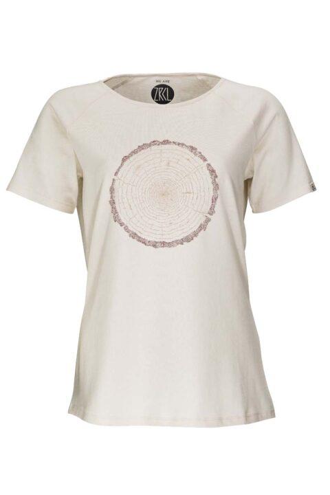 Damen T-Shirt Tree Ring natural