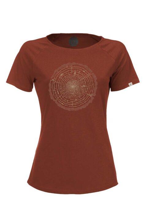 Damen T-Shirt Tree Ring rost