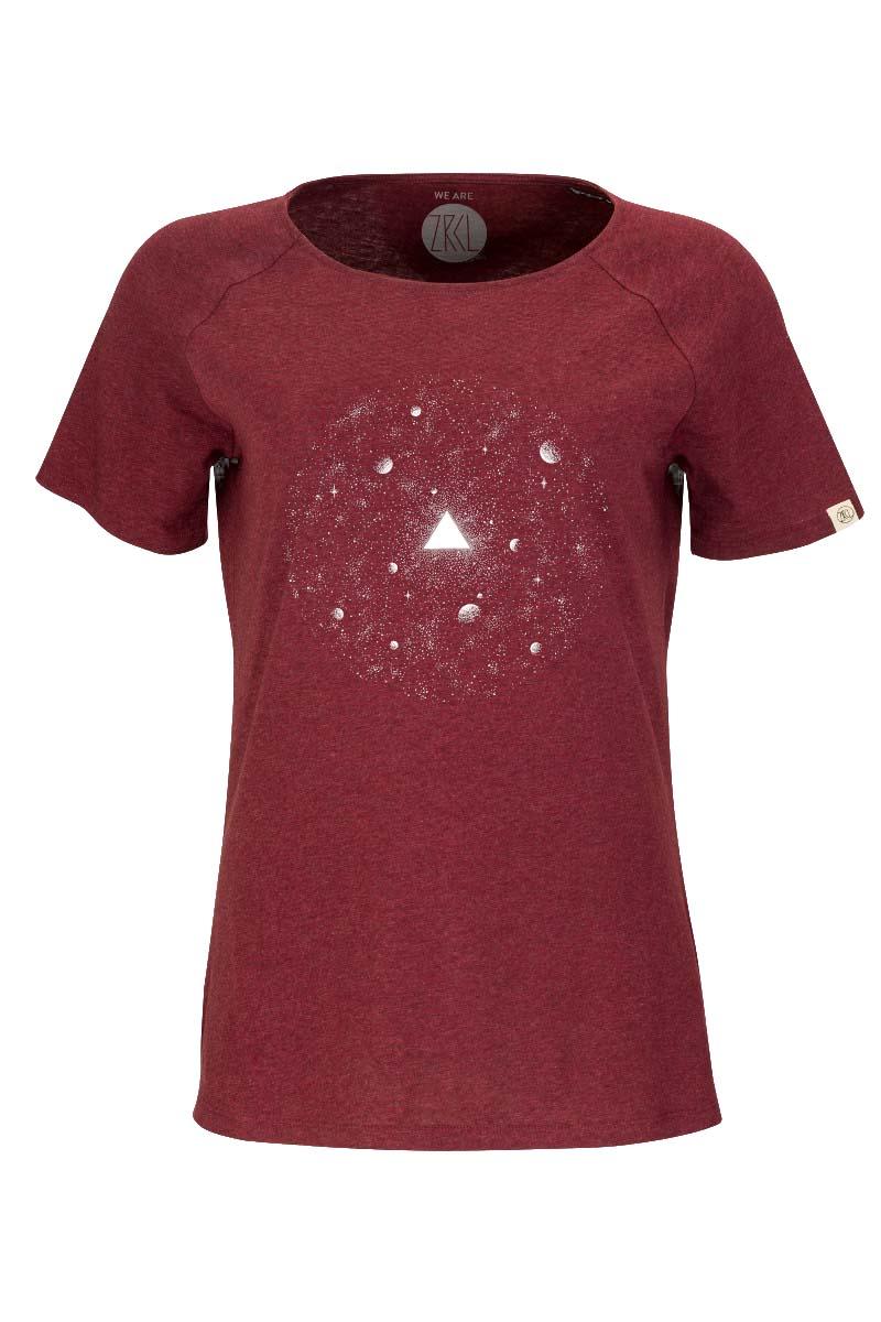 W T-Shirt Universe dark wine