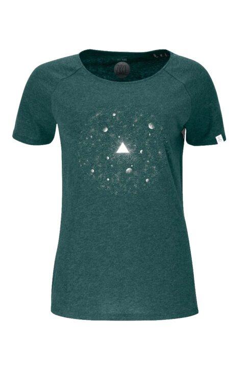 Damen T-Shirt Universe green stone