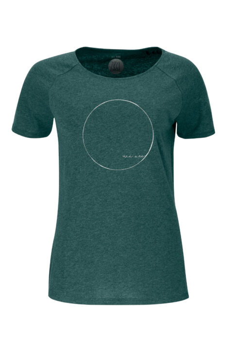 Women T-shirt WE ARE green stone