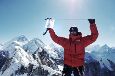 ZRCL Fahne vor dem Mt. Everest