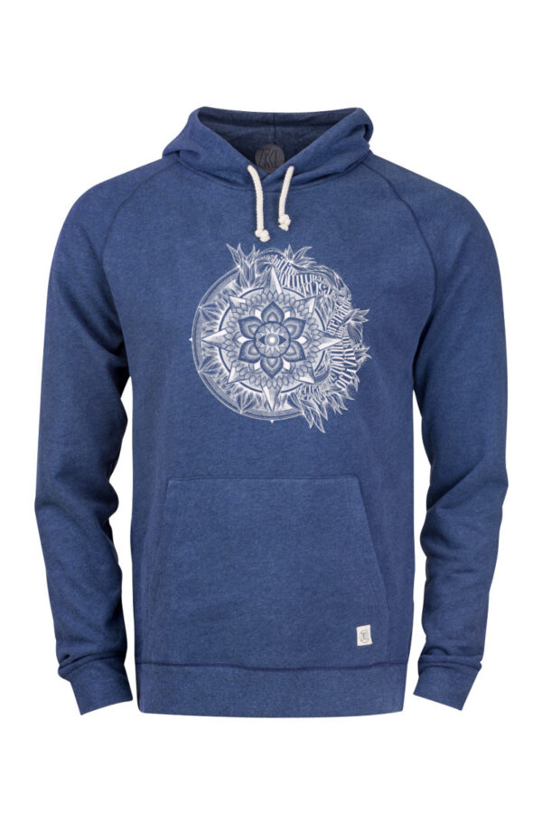 Men Eye Hoodie blue stone