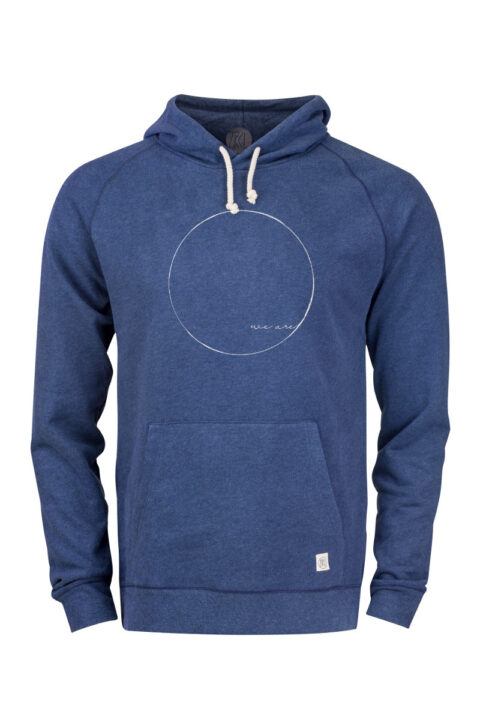 Men Hoodie WE ARE blue stone