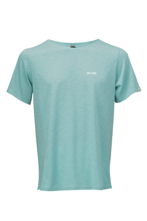 Men WE ARE 2.0 loose T-Shirt teal
