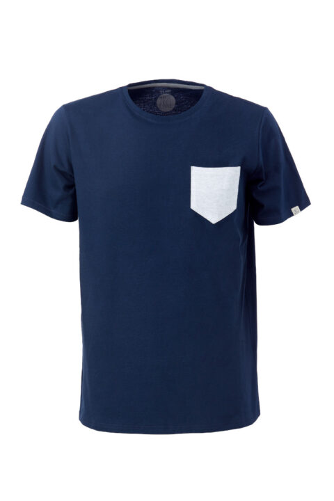 Men T-Shirt Pocket blue