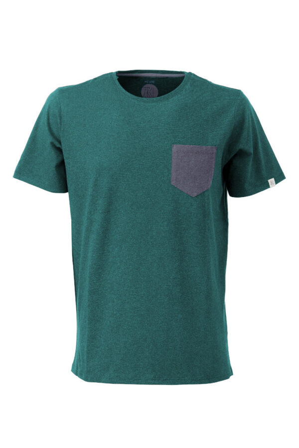 Men T-Shirt Pocket green stone